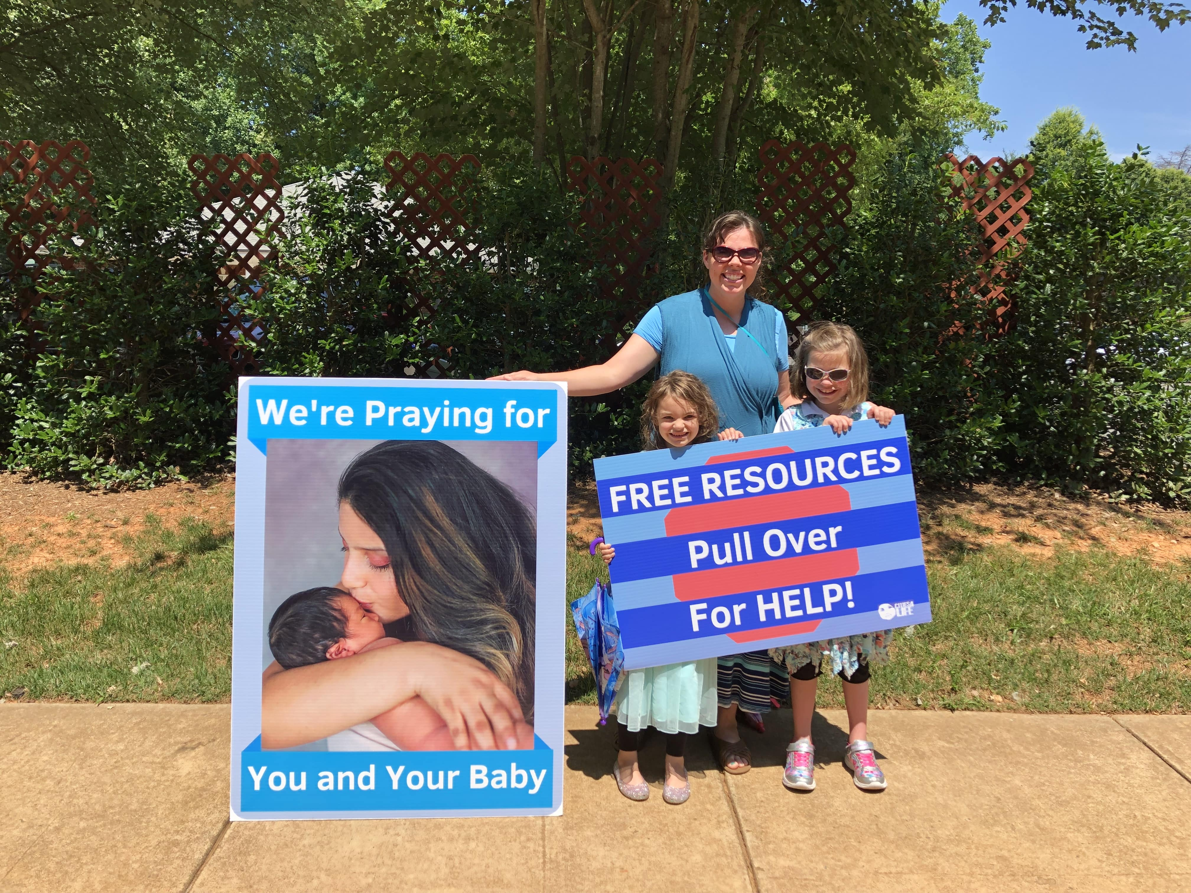 Pro-Life Signs Family